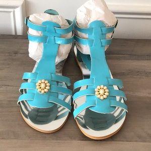 Amrita Singh Turquoise Sandals NEW